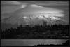 Early Digital (Ernie Misner) Tags: f8anddigoldgear mountrainier lenticularcloud lenticular tacomawa tacoma washington blackandwhite monochrome erniemisner nikond810 nikon d810 nikond200 d200 topazstudio topaz nik capturenx2 cnx2