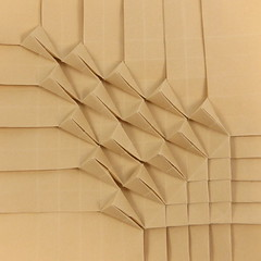 Dune Tessellation (Michał Kosmulski) Tags: origami tessellation dune dunes pyramids triangles michałkosmulski tantpaper beige sand wetfolding