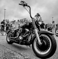 Phat Boy (4 Pete Seek) Tags: caffeineandoctane caffeineandoctanecarshow carshow motorcycle fatboy phatboy harleydavidson harleydavidsonmotorcycles mirrorless batis batis225 bw blackwhite blackandwhite monochrome monotone