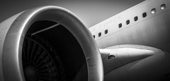 LONDON AIRSHOW 2017 (Dave GRR) Tags: plane motor engine air show london 2017 black white olympus omd em1 14150