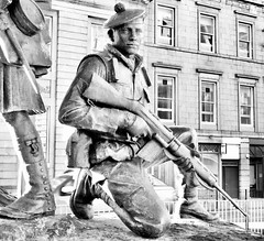 Gordon Highlanders Memorial Castlegate Aberdeen Scotland 2017 (DanoAberdeen) Tags: visitscotland blackandwhite metallicobjects sculpture publicart tommygun lessweforget neverforget hero soldier barracks bydand unionstreet aberdeenunionstreet aberdeenscotland aberdeen nikon nikkor danoaberdeen ww2 worldwartwo worldwarone ww1 armistice remembrancesunday remembranceday scottishsoldier britisharmy britishsoldier gordonhighlanders militarywives candid amateur oldsoldiers historicscotland army heritage highlands scotland autumn summer winter spring ecosse schotland escocia memorial missinginaction warhero war forces military widow wive british uk gb scotch remembrance statue publicstatue regiment battalion troops infantry brigade wardead poppy fighter veterans poppyfields