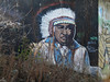 A fading mural of a First Nations' Chief in Orléans (Ottawa), Ontario (Ullysses) Tags: mural murale firstnations chief orléans ottawa ontario canada autumn automne urbanart indianchief