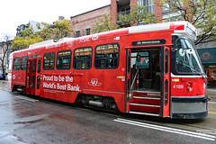 TTC streetcar with HSBC Canada advertisement (Canadian Pacific) Tags: toronto ontario canada canadian city ttc tram streetcar 514 king street east 4169 hsbc ad advert advertisement 2017aimg4517