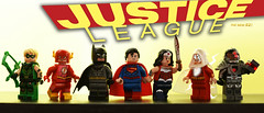 Generations of Justice: The 2010s (Andrew Cookston) Tags: lego dc comics justice league green arrow oliver queen the flash barry allen christo7108 batman bruce wayne phoenix customs superman clark kent wonder woman diana prince shazam captain marvel billy batson cyborg victor vic victory stone 2010s new 52 n52 2011 geoff johns cliff wu chiang francis manapaul custom minifig minifigure photoshop toy still life nikon macro photography andrew cookston andrewcookston