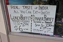 Real Taste of India, Binghamton, NY (Robby Virus) Tags: binghamton newyork ny upstate real taste india sign signage window buffet lunch dinner indian restaurant food