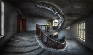 abandoned stairs - a marvel of beauty