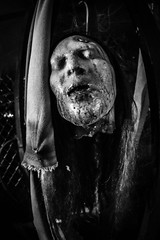 FrightFest_035 (allen ramlow) Tags: fright fest san antonio six flags halloween bw black white horror sony a6500