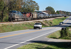 Bluebird Morning (weshendrix) Tags: csx abbeville subdivision atlanta division bogart georgia ga train railfan railroad railfanning rr freight ethanol ge ac4400cw cefx leasing lease cp canadian pacific diesel engine locomotive vehicle autumn sky blue cars
