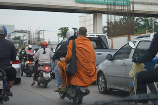 monk on a motorcycle