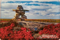 Canada - Inukshuk (a_garvey) Tags: inukshuk canada postcard postcrossing available