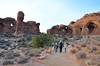 Sue & The Kids Walking Back From Double Arch (Joe Shlabotnik) Tags: november2017 sue moab arches doublearch proudparents nationalpark archesnationalpark utah everett violet 2017 arch afsdxvrzoomnikkor18105mmf3556ged