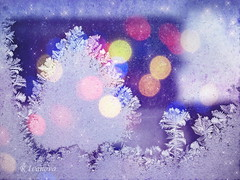 Merry Christmas and Happy New Year! (R_Ivanova) Tags: ice frost light lights window winter textured colors color rivanova sony риванова лед скреж прозорец зима светлини текстура абстрактно