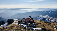 Snow Bike ride to Salmon River Canyon Overlook (Doug Goodenough) Tags: bicycle bike cycle pedals spokes surly ecr maxis chronicles rohloff hub 29 plus snow dec waha idah lewiston december 17 2017 vista view canyon river drg53117 drg53117p