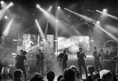 Added Brass (peterphotographic) Tags: photo261020172232291sefexedwm addedbrass apple appleiphone iphone 6s ©peterhall nik silverefexpro2 blackandwhite bw monochrome eventimapollo apollo hammersmithodeon hammersmith westlondon london england uk britain psb publicservicebroadcasting music musician livemusic live gig concert stage brass band trombone trumpet saxaphone lighting crowd