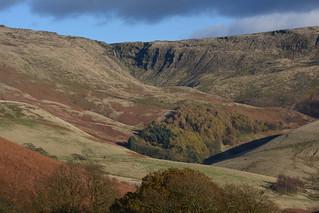 Kinder Downfall, Peak District National Park, Derbyshire, England.