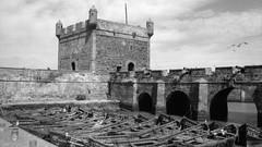 Port of Essaouira (jwb-photography) Tags: analog blackwhite morocco port boats fisher canons castle essaouira mogador