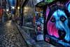 Hosier Lane (DaveFlker) Tags: hosier lane melbourne laneway night street art silly