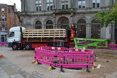 Iron Man Removal (Will Swain) Tags: birmingham 5th september 2017 victoria square west midland midlands city centre bus buses transport travel uk britain vehicle vehicles county country england english iron man removal statue