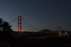 Golden Gate Bridge After Sunsest (Lox & Cream Cheese) Tags: sanfrancisco city bayarea goldengatebridge baybridge sunset citylights lights handheld sony a7rii
