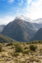 Key Summit (tehroester) Tags: mountain hills new zealand hike walk landscape nature scenery sky blue green forest wild nikon d3300 amateur beginner feedback snow mountains travel world trip cold ice