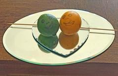 Smile (soniaadammurray - Off) Tags: iphone smileonsaturday onthemirror smile lime lemon mirrors skewer table stilllife