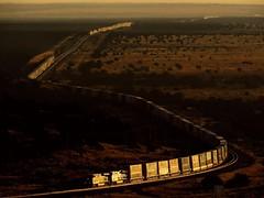 3 in 1 Glint (Jake Siegel (PHX Sub Railfanner)) Tags: light golden rails railroad arizona railfan hike darling sunrise glint train subdivison seligman bnsf