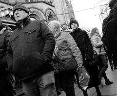 albert square markets (LozHudson) Tags: manchester monochrome mono blackwhite blackandwhite fuji xt10 fujifilmxt10 people christmasmarkets
