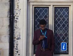 i Tunes (Bury Gardener) Tags: streetphotography street streetcandids candid candids people folks strangers burystedmunds suffolk eastanglia england uk 2017 britain british cornhill