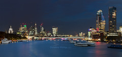 London - A Classing Panorama Christine Phillips (Christine's Phillips (Christine's observations) - ) Tags: yellow london skyline stpaulscathedral thames riverthames iconic everything panorama horizontal beautiful longexposure