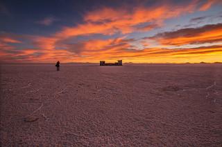 Sunset in Uyuni