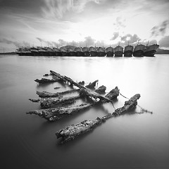 Dead (pattana92392) Tags: fineart photography thailand boat cloud fisherman fishing landscape ocean sea sky transport transportation vacation water longexposure blackwhite
