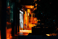 Police station (カク チエンホン) Tags: voigtlander sony street a7r taiwan taipei night vm40 orange light