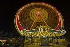 Riesenrad auf dem Hamburger Winterdom (hph46) Tags: hamburg winterdom germany jahrmarkt riesenrad nachtaufnahme langzeitbelichtung sony alpha7r canonef1635mm14lisusm