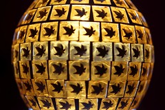 Made of Glass (Sam ei) Tags: smileonsaturday madeofglass glass light dark orange black leaf geometric macro