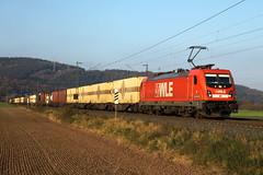 WLE 82 - 187 010 (II) van de Westfälische Landes Eisenbahn  met de Warsteiner bier trein naar München thv. Mecklar-Ludwigsau (JvanSt) Tags: mecklarludwigsau wle82 187 010 bombardier