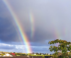 Broken Rainbows (gmrphoto) Tags: canon autumn photography nature scotland isleoflewis outerhebrides eos landscape september stornoway rainbow sun clouds rain storm