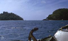 Moyenne Island left, Long Island right. St Anne's Marine National Park.