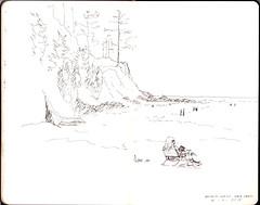 Scan 26 (pieisexactlythree) Tags: sketch moleskine pen ink oregon beach oswaldweststatepark oregoncoast