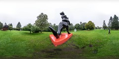 First Rider (HamburgerJung) Tags: panasonic gm5panasonic gm5 nordart büdelsdorf rendsburg schleswigholstein walimex kunst art skulptur aesf equirectangular