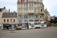 Steilstrecke (Maurits van den Toorn) Tags: helling slope tatra kt4d tram strassenbahn tramway tranvia eléctrico villamos germany deutschland plauen vogtland