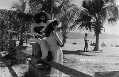 Nha Trang Beach - Biển Nha Trang - 1965 (Nguyen Ba Khiem) Tags: 1960s 1965 hìnhảnhxưa việtnam việtnamxưa nhatrang nhatrangxưa nguyễnbámậu phongcảnh biển nước dừa áodài nónlá
