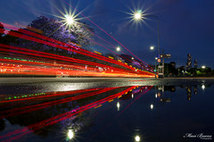 After the rain (maxem fotos) Tags: reflections lighttrails light night nightshot buenosaires