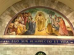 82 - Mozaikfreskó Lázár templomában - Betánia / Freska v Kostole sv. Lazara - Betánia