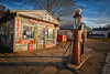 George Preston's Filling Station (wdterp) Tags: gasstation fillingstation georgepreston gaspumps signs lincolnhighway belleplaine iowa
