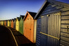 Frosty Beach huts (simondayuk) Tags: dawlish dawlishwarren devon beachhuts landscape seaside sea nikone d5300 kitlens
