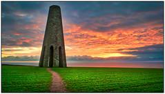 Daymark Tower (simondayuk) Tags: daymark tower devon brixham kingswear landscape coastal field sunrise dawn path nikon d5300 kitlens froward