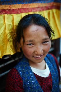 Tibetan girl, Boudhanath, Kathmandu, Nepal