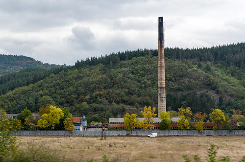 Bulgaria, along the Sofia-Plovdiv railway