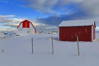 Hov village-fishing huts or robuer for tourist use-Vagan kommune-Gimsoya-Lofoten-Norway. 05857
