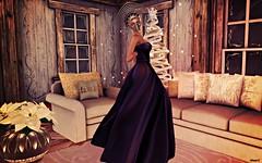 Magic Christmas (kare Karas) Tags: woman lady femme girl magic fantasy indoors home christmas december mesh gown mask necklace homeset event poses vistual avatar secondlife holidays prey tresbeaumaison propose 68mainevent